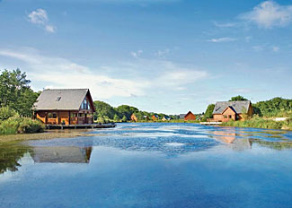 Park setting at Anglesey Lakeside - Holiday Lodges in Anglesey North Wales