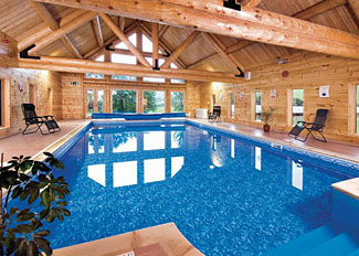 Indoor swimming pool at Black Hall - Knighton Holiday Lodges in Shropshire UK