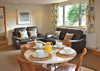 Interior view of Pheasant Lodge ( Ref LP7715 ) Ivyleaf Combe Holiday Lodges in Cornwall England