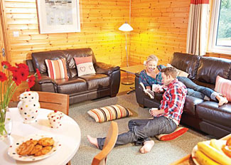 Interior view of Retreat Lodge at Ivyleaf Combe Lodges - Self Catering Accommodation at Stratton near Bude Cornwall