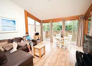 Interior of Mill Lodge ( Ref LP3501 ) at Leycroft Valley - Holiday Lodges near Perrancoombe North Cornwall England
