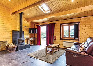 Interior of Cranborne Lodge ( Ref LP9301 ) at New Forest Lodges - Self Catering Lodge Accommodation in Cranborne Hampshire England