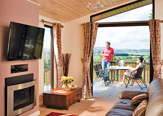 Galloway Hill Top Lodge ( Ref LP6434 ) at Nunland Hillside Holiday Lodges in Dumfries-shire Scotland