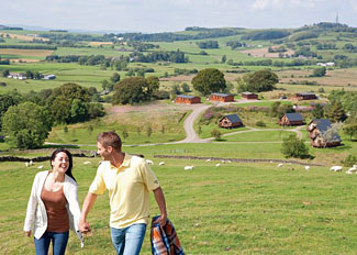 Holiday Lodge setting at Nunland Hillside - Self catering accommodation near Dumfries Scotland