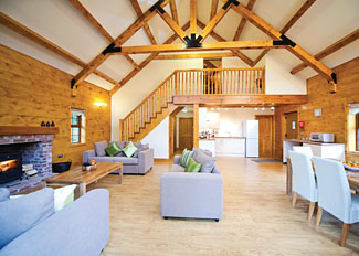 Living area at Oakridge Lodge ( Ref LP5995 ) at Redbrick - Edwinstowe Holiday Lodges in Nottinghamshire England