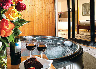 Secluded outdoor hot tub at Wentworth Lodge ( Ref LP5276 ) Self Catering Accommodation at Ribblesdale Lodges Lancashire England