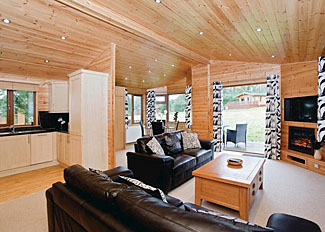 Interior of typical Tamar Lodge ( Ref LP6474 ) Ruby Country Holiday Lodges Devon England