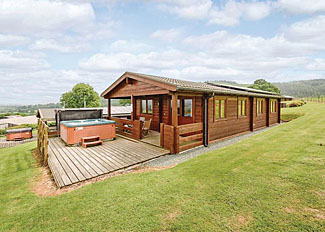 Setting of Bluebell Lodge ( Ref LP3338 ) at Trewythen Lodges - Self Catering Accommodation in Llandinam Wales UK