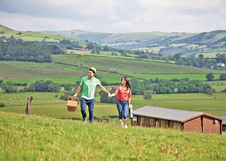 Countryside setting at Trewythen Lodges - Holiday Lodges near Llandinam Powys Wales