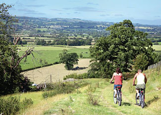 Tranquil countryside surrounding Trewythen Lodges - Self Catering Accommodation near Llandinam Powys Wales UK