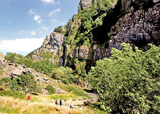 Cheddar Gorge - Tourist attraction near Whipcott Water Holiday Park in Somerset England