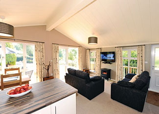 Hornbeam Lodge living area - Holiday Lodges near Narbeth Pembrokeshire South Wales