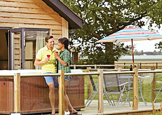 Outdoor space at Acorn Lodge ( Ref LP3906 ) Oakwood Lodges North Duffield North Yorkshire England