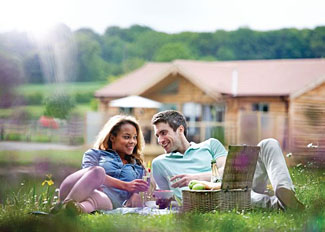 Lovely setting at Willow Lakes Lodges - Self Catering Lodge Accommodation at Ashby Cum Fenby Lincolnshire England