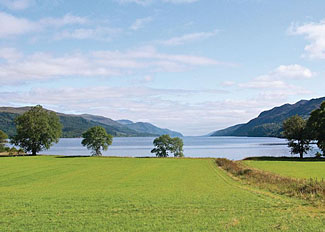 View of Loch Ness near Wildside Highland Holiday Park in Whitebridge Scotland