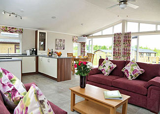 Typical interior of Aspen Lodge 4 ( Ref LP9161 ) Holiday Lodges at Ashby Woulds Lodges Derbyshire