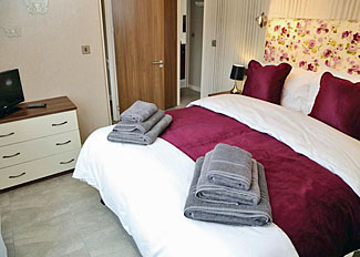 Typical bedroom in Aspen Lodge 4 ( Ref LP9161 ) Self catering accommodation at Ashby Woulds Lodges Overseal Derbyshire