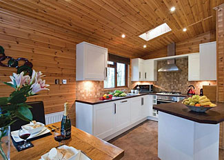 Interior of Kingfisher VIP Lodge ( Ref LP4395 ) Ashlea Pools Lodges - Self Catering Accommodation in Shropshire UK