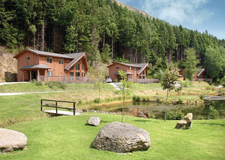 Holiday Lodge setting at Penvale Lake Lodges in Llangollen North Wales