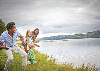 Bala Lake is near Pen-y-Garth holiday lodges in Gwynedd Wales