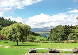 Beautiful Wales countryside views from Pen-y-Garth Holiday Park in Gwynedd