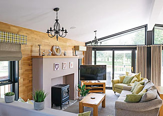 Living area in St Andrews Lodge ( Ref LP14751 ) at The Manor Resort - Holiday Lodges in Lincolnshire England
