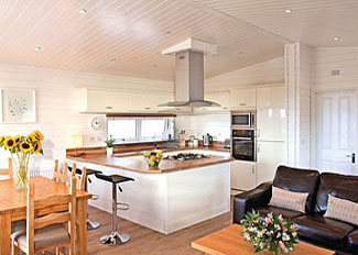Photo of interior of Bassetts Lodge ( Ref LP8818 ) at Warren Lodges - Self catering accommodation near Maldon Essex