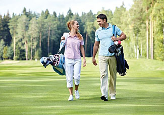 Golf course near Warren Lodges - Holiday Lodge near Maldon in Essex East England