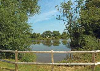 Fishing lake at Wigmore Lakes - Holiday Lodges near Shrewsbury in Shropshire England