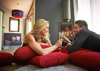 Lounge in Golden Oak Hideaway Lodge ( Ref LP8678 ) at Forest of Dean Holiday Lodges in Gloucestershire England