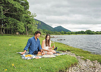 Photo of picnic by Lake Bassenthwaite near Keswick in the Lake District