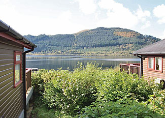 Lake Bassenthwaite view from holiday lodges near Keswick Cumbria - Lake District Accommodation