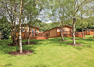 Park setting at Cheddar Resort and Spa - Holiday Lodges in Somerset England