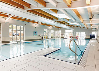 Indoor swimming pool at Cheddar Woods Resort & Spa - Holiday Lodges near Cheddar in Somerset