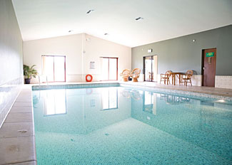 Photo of indoor swimming pool at Beaconsfield Holiday Park in Shropshire England