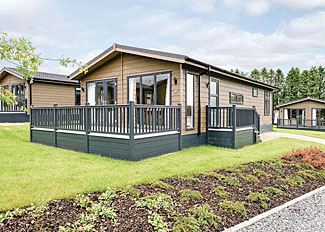 Typical Elonby 2 Premier Lodge ( Ref LP14137 ) at Thanet Well Holiday Park near Penrith Cumbria England