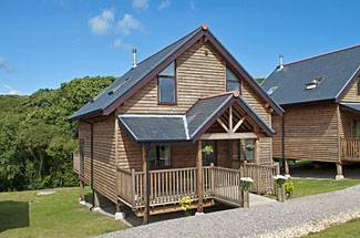 The Water Mill holiday lodges at Calbourne Isle of Wight England - Kingfisher Lodge has three bedrooms and sleeps six people