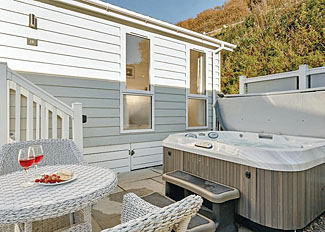 Cairnwood Premier stylish patio with outdoor hot tub ( Ref LP8415 ) Beach Cove Coastal Retreat - Accommodation in Hele Bay Devon