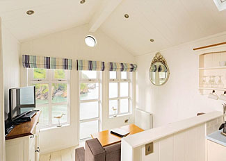 Interior view of beach hut at Beach Cove Coastal Resort ( Ref LP9170 ) Cairnwood Premier Sea View - Devon holiday park