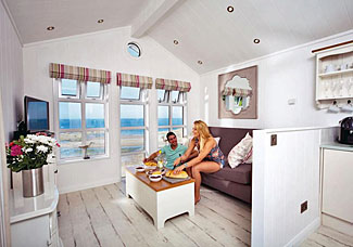 Beach Cove Coastal Retreat Hele Bay Devon - Interior of Wrinklewood Premier Sea View ( Ref LP9171 )