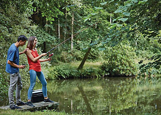 Lake fishing at Bulworthy Forest Holiday Lodges - Bideford Self Catering Accommodation in Devon