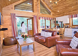 Living are in Hideaway Lodge ( Ref LP4597 ) Glen Clova Holiday Lodges - Kirriemuir Scotland