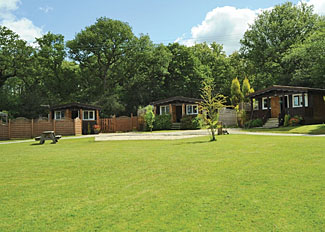 Park setting at Heronstone Holiday Lodges - Self Catering Accommodation in Brecon Beacons National Park Powys Wales