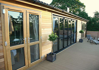 Upton Lakes Holiday Lodges in Devon England - Photo of typical Lakeside Escape Lodge (Pet Friendly) A ( Ref LP6568 )