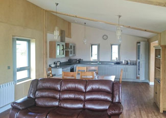 Typical open plan living area in Arran Lodge ( Ref LP9429 ) Castle Pren Holiday Lodges Powys in Wales