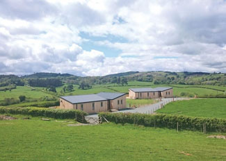 Park setting at Castle Pren Holiday Lodges near Llandrindod Wells in Wales