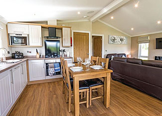 Photo of kitchen at Lakeside 2 Lodge ( Ref LP12867 ) Woodhall Country Park - Holiday accommodation in Lincolnshire