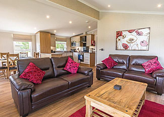 Interior of Lakeside 3 Lodge ( Ref LP12868 ) Holiday Lodge at Woodhall Country Park in Lincolnshire East England