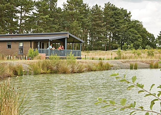 Setting of Lakeside 3 Lodge ( Ref 12868 ) Woodhall Country Park Holiday Lodges Woodhall Spa Lincolnshire England