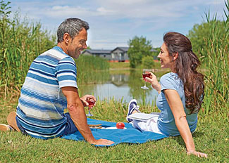 Park grounds at Claywood Retreat - Holiday Lodges in Darsham near Southwold in Suffolk England
